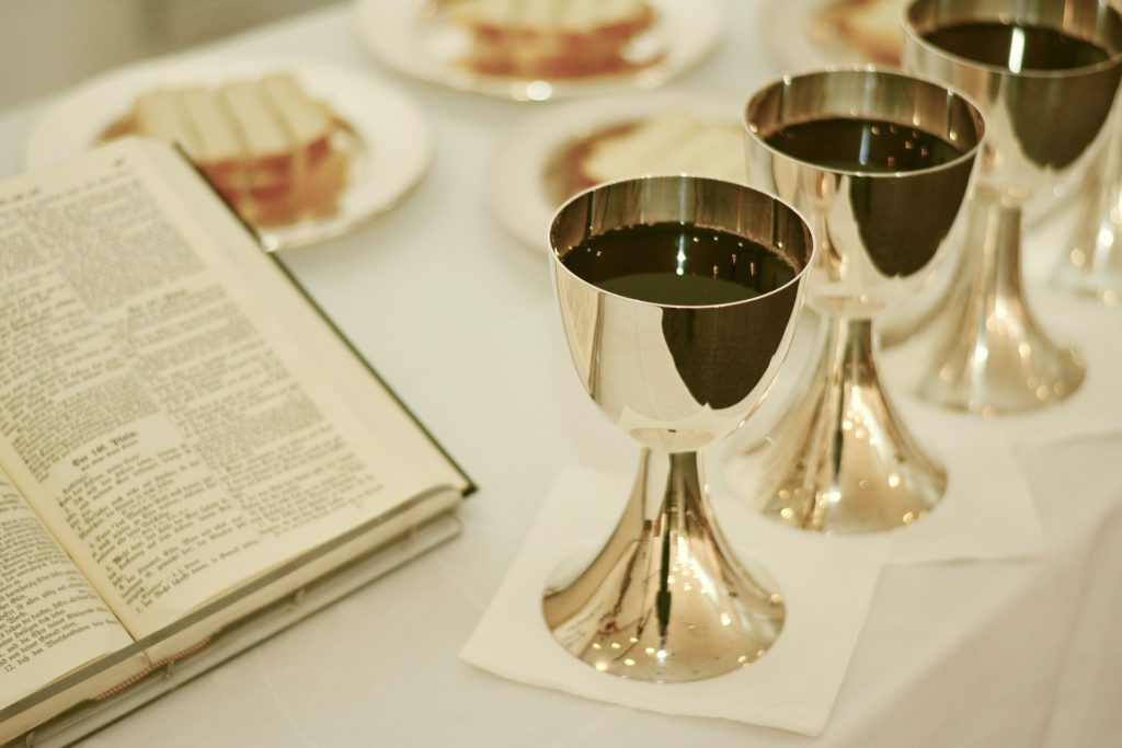 Worship and Communion - Bread, Wine, Bible