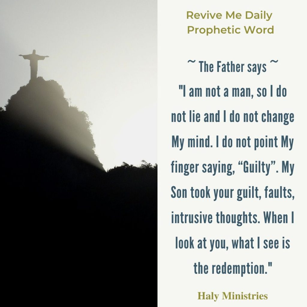 You are Not Guilty but Redeemed - Jesus on the Top of the Mountain with Stretched Arms