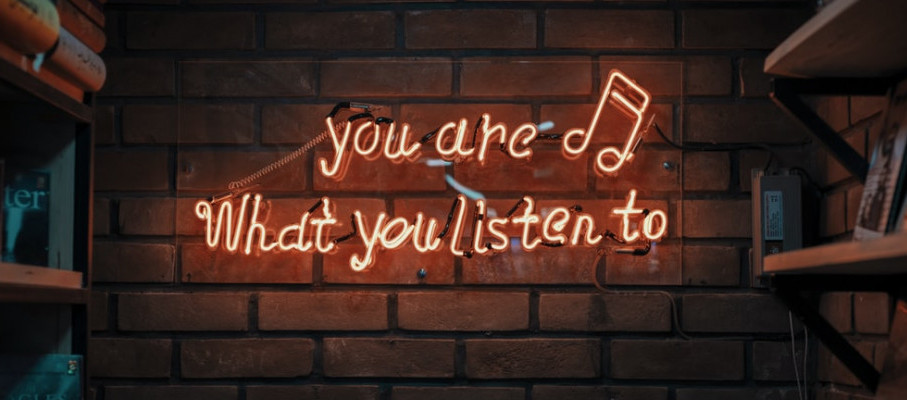 You are What You Listen to - Written on Brik Wall