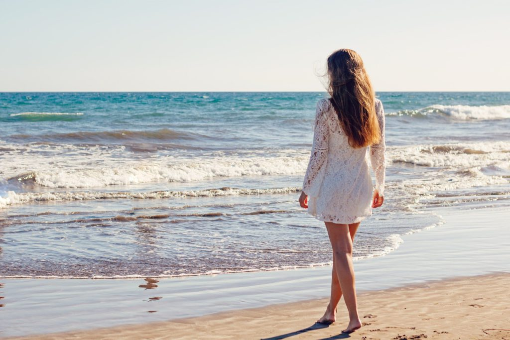 Young Woman  by the Sea Shore